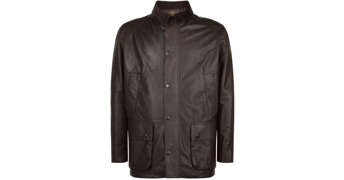 8499039b4 Barbour Brown Ashby Leather Jacket for men