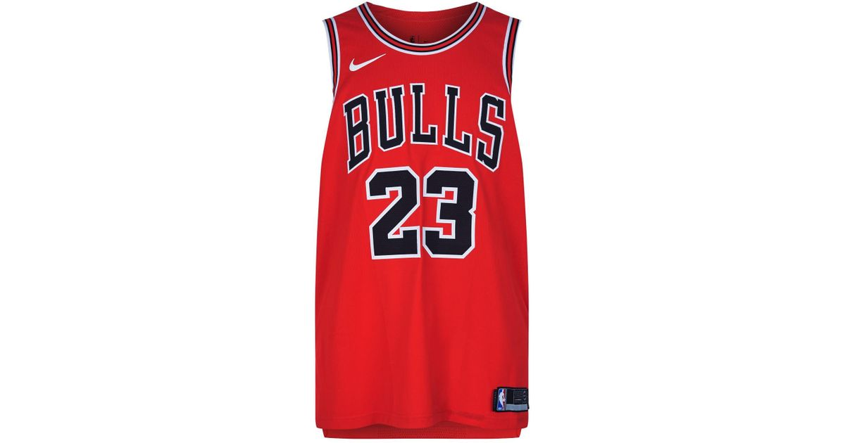 28ea3d313d0 Nike Chicago Bulls Basketball Jersey in Red for Men - Lyst
