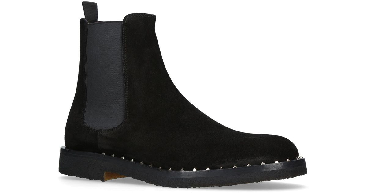 6d01d84a1 Valentino Soul Rockstud Chelsea Boots in Black - Lyst