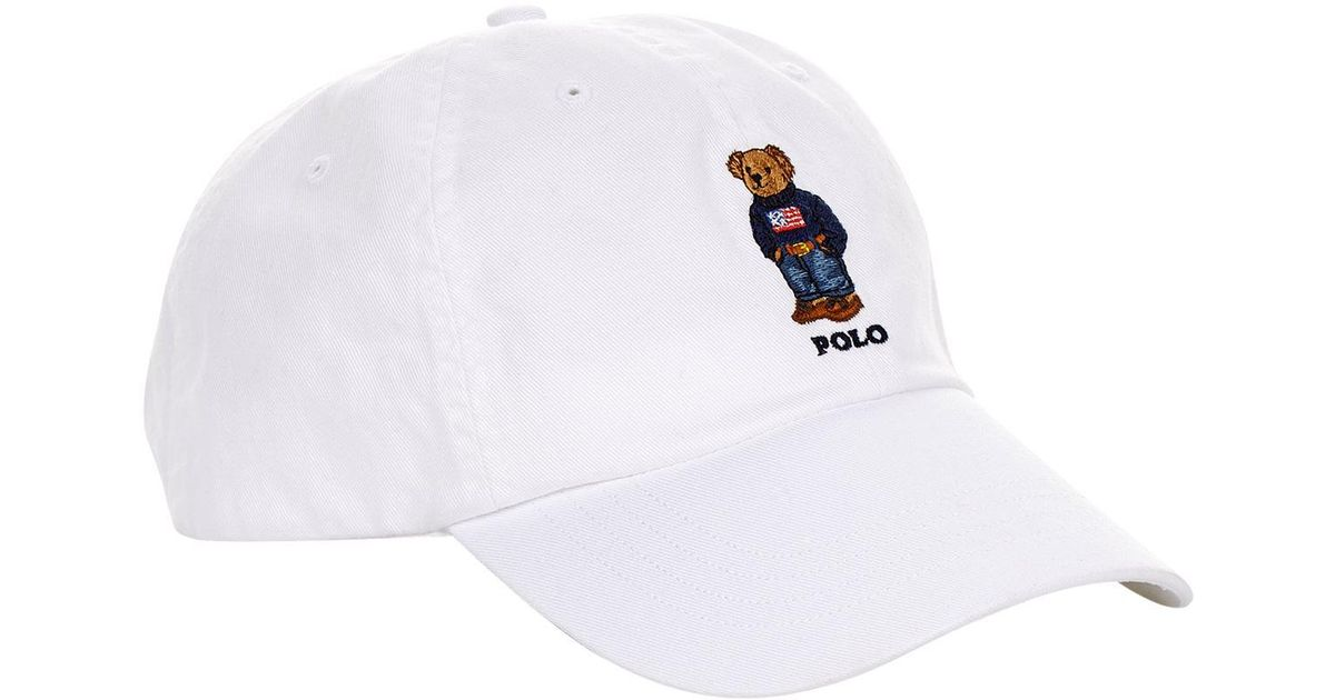 Lyst - Polo Ralph Lauren Embroidered Bear Cap in White for Men 6ee315bec211