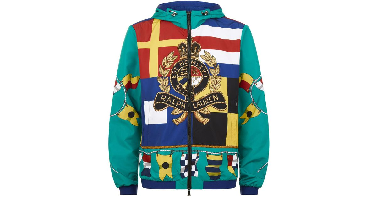 Print In Multicolor Lauren Polo Jacket 93 Green Men Ralph Hooded For Capsule Crest Lined Edition Flag Cp Multi Limited sQdthrC