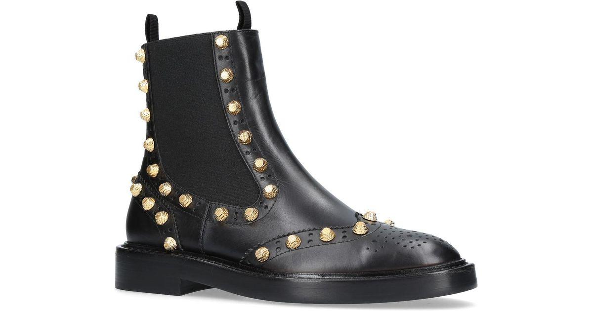Balenciaga Leather Studded Chelsea