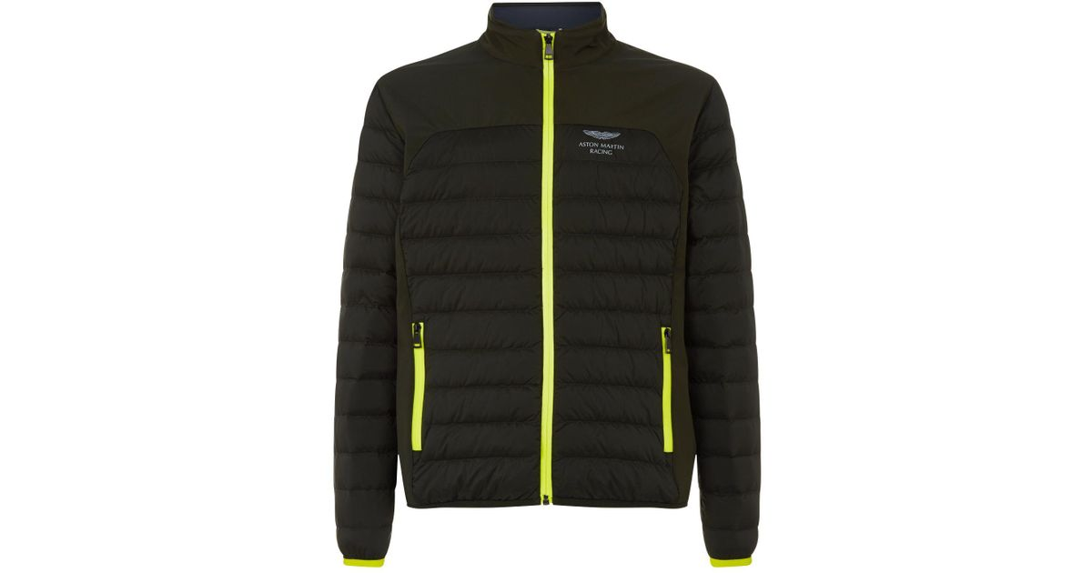 Lyst Hackett Aston Martin Racing Moto Padded Jacket In Green For Men