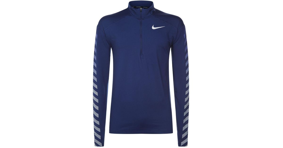 37ddde126bfd9 Lyst - Nike Element Flash Long Sleeve Runningtop in Blue for Men