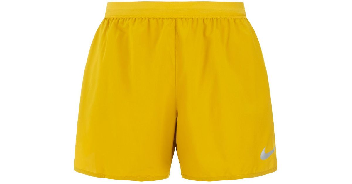 Nike Yellow Flex Stride Elevate Running Shorts for men