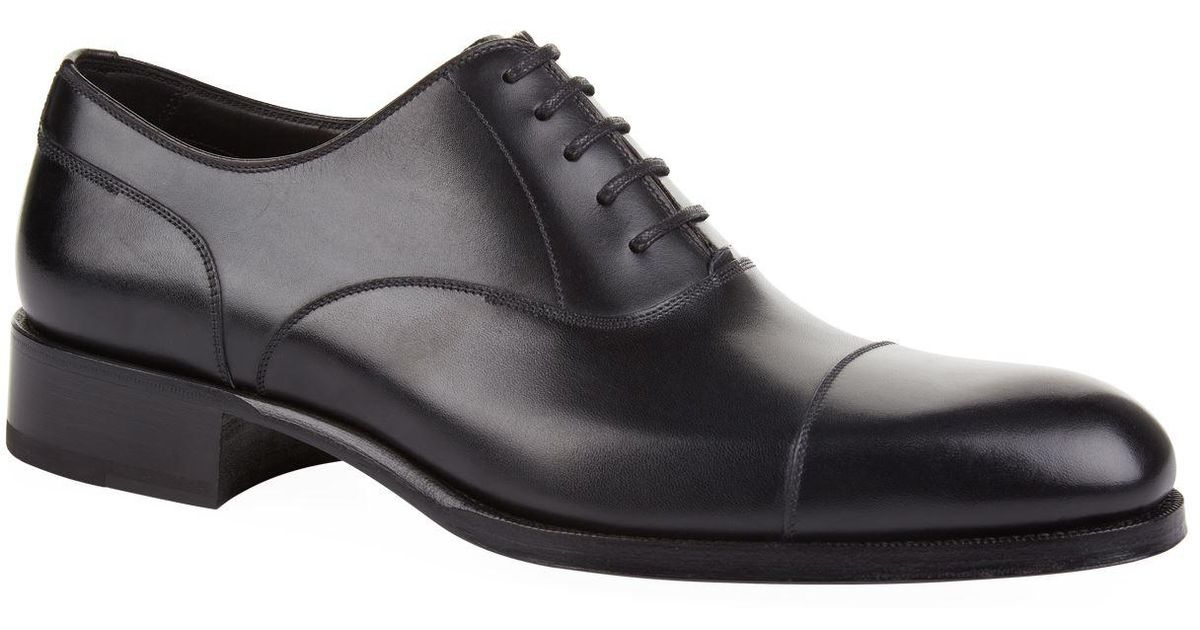 0d8ba49dcc6b Lyst - Tom Ford Edgar Oxford Shoes in Black for Men