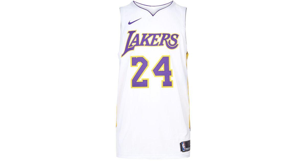 Nike Kobe Bryant Lakers Basketball Jersey in White for Men - Lyst