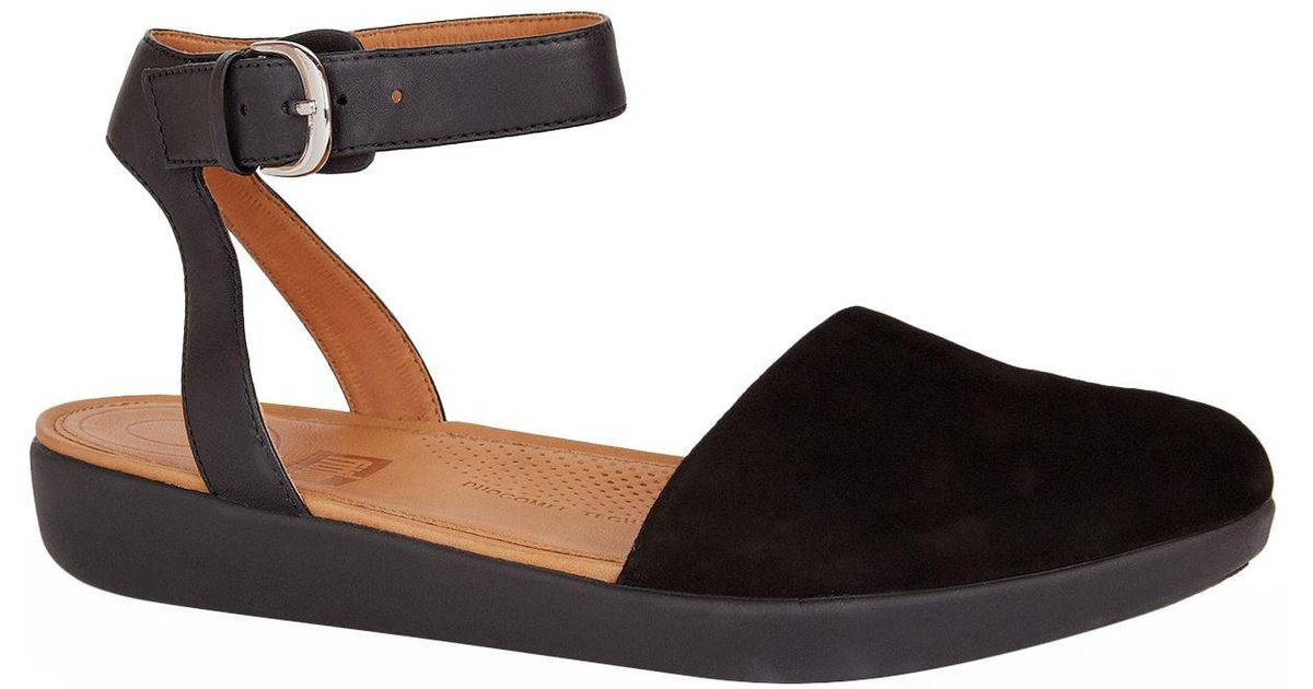 Fitflop Suede Cova Sandals in Black - Lyst