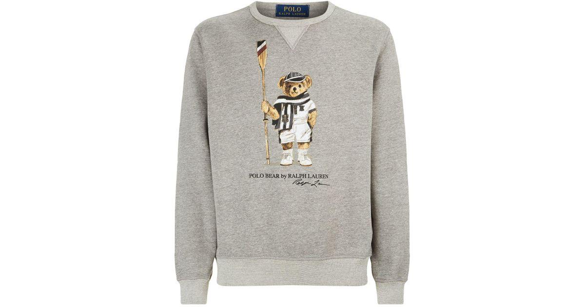 Lauren Ralph Men Polo Gray Sweatshirt For Bear Fleece rBWQCEodxe