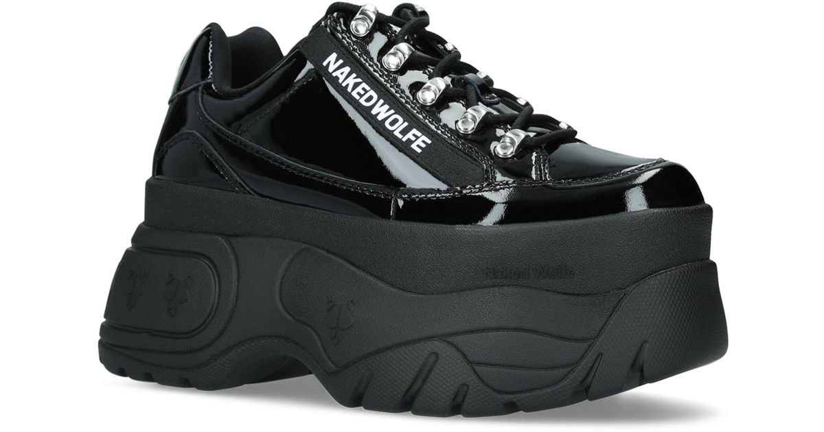 Naked Wolfe sprinter Sneakers-Black-Womens Shoes Low