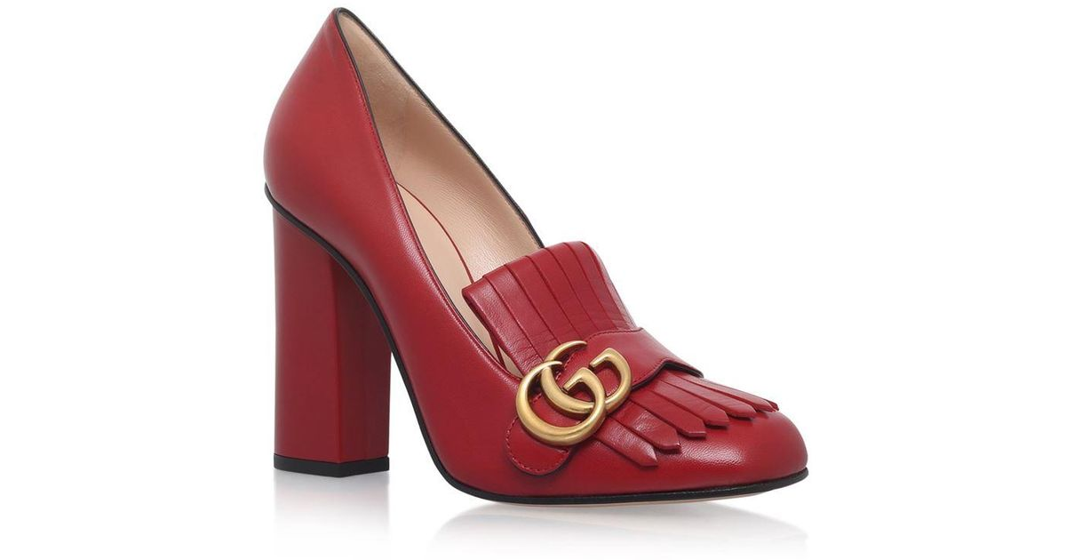 a0ae87d8 Gucci Red Marmont Pumps 105