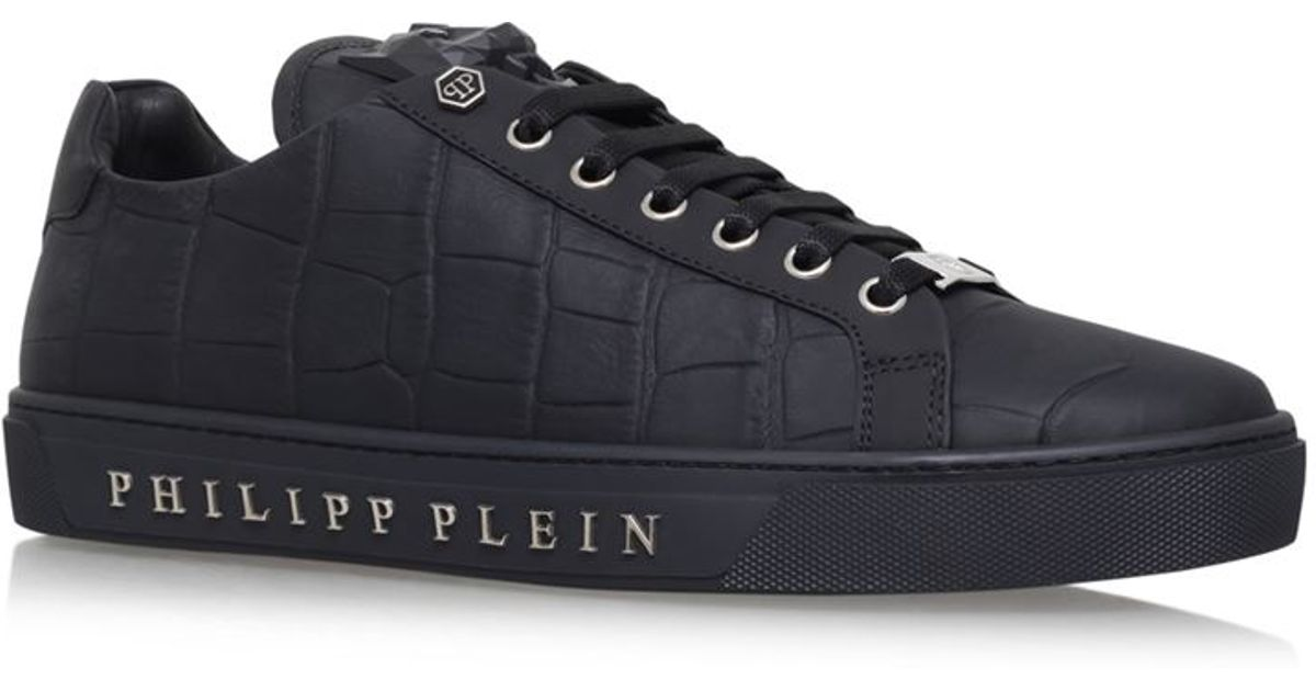 ec80eab4890 Philipp Plein Tusk Low Top Sneakers in Black for Men - Lyst
