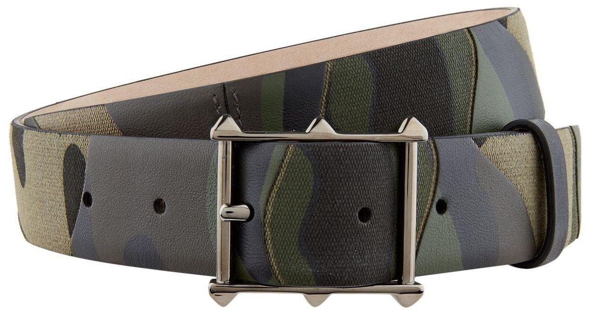 Valentino Leather Rockstud Camouflage