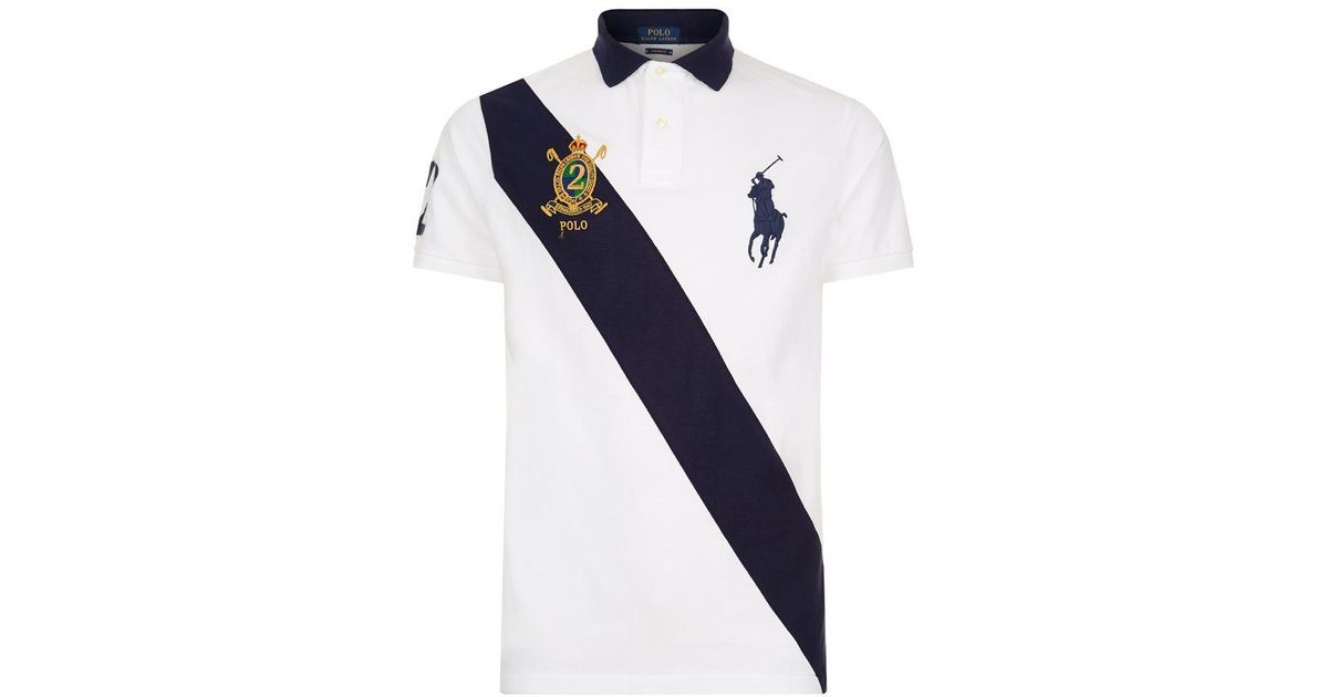 09d98a60 Polo Ralph Lauren Crest And Big Pony Sash Polo Shirt for Men - Lyst