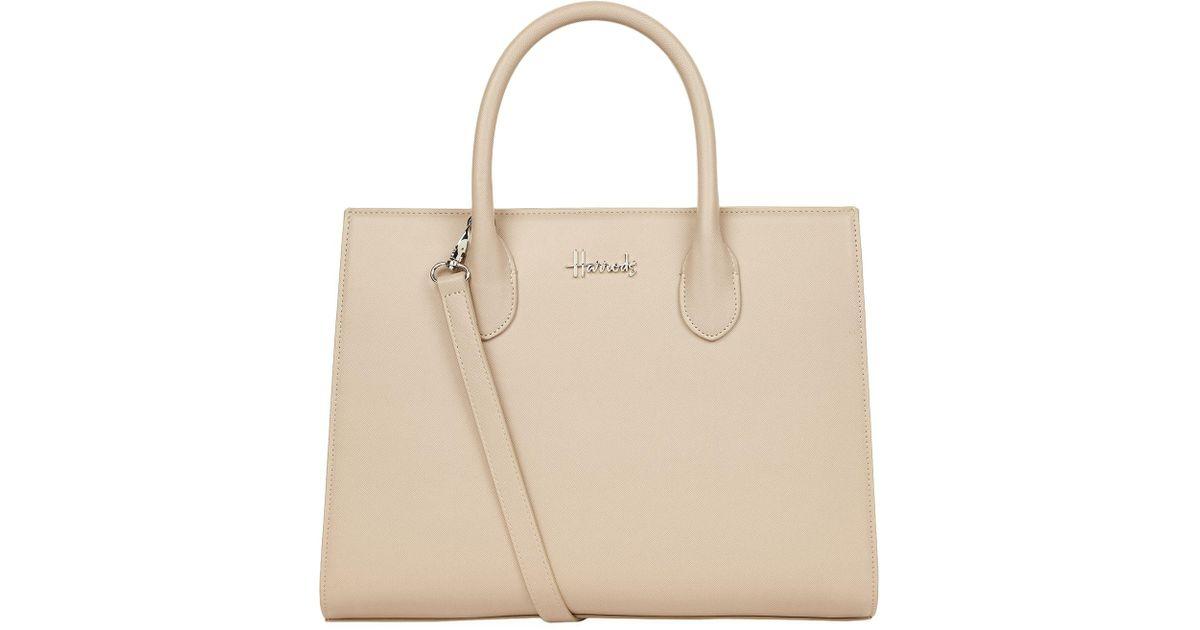 e868aba3f21 Harrods Matilda Shoulder Bag in Natural - Lyst