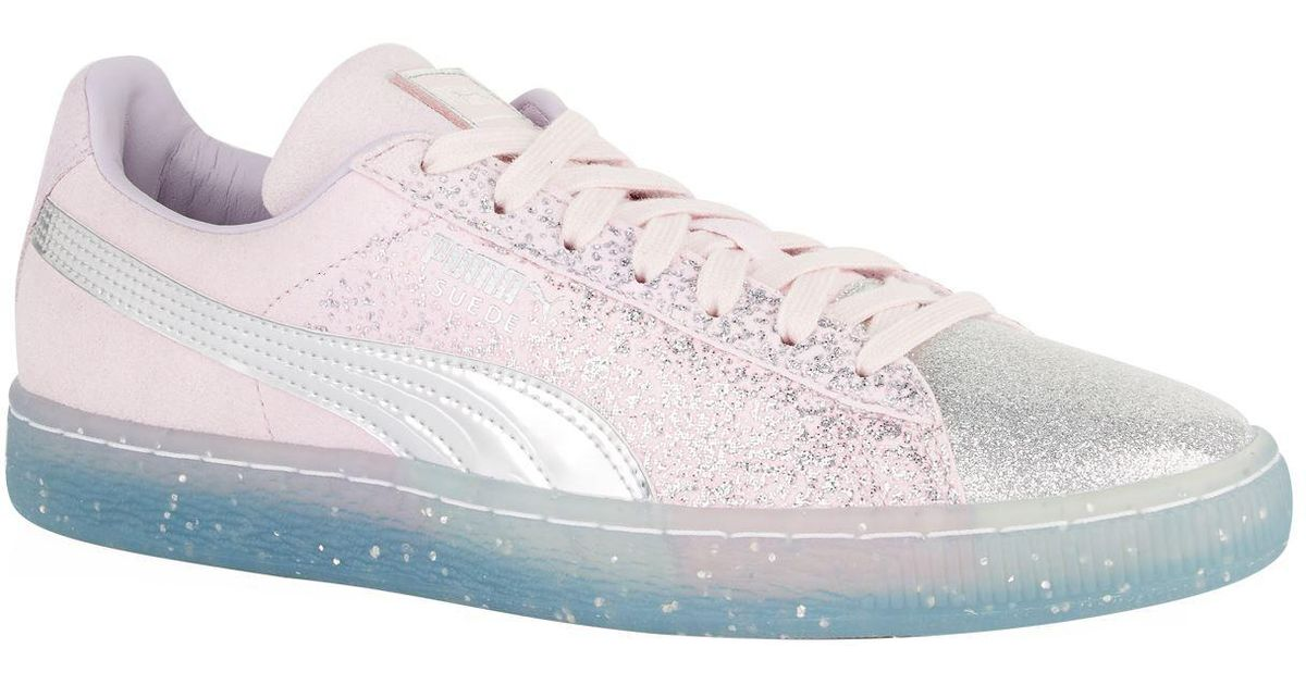 PUMA Suede Glitter Princess Sneakers in