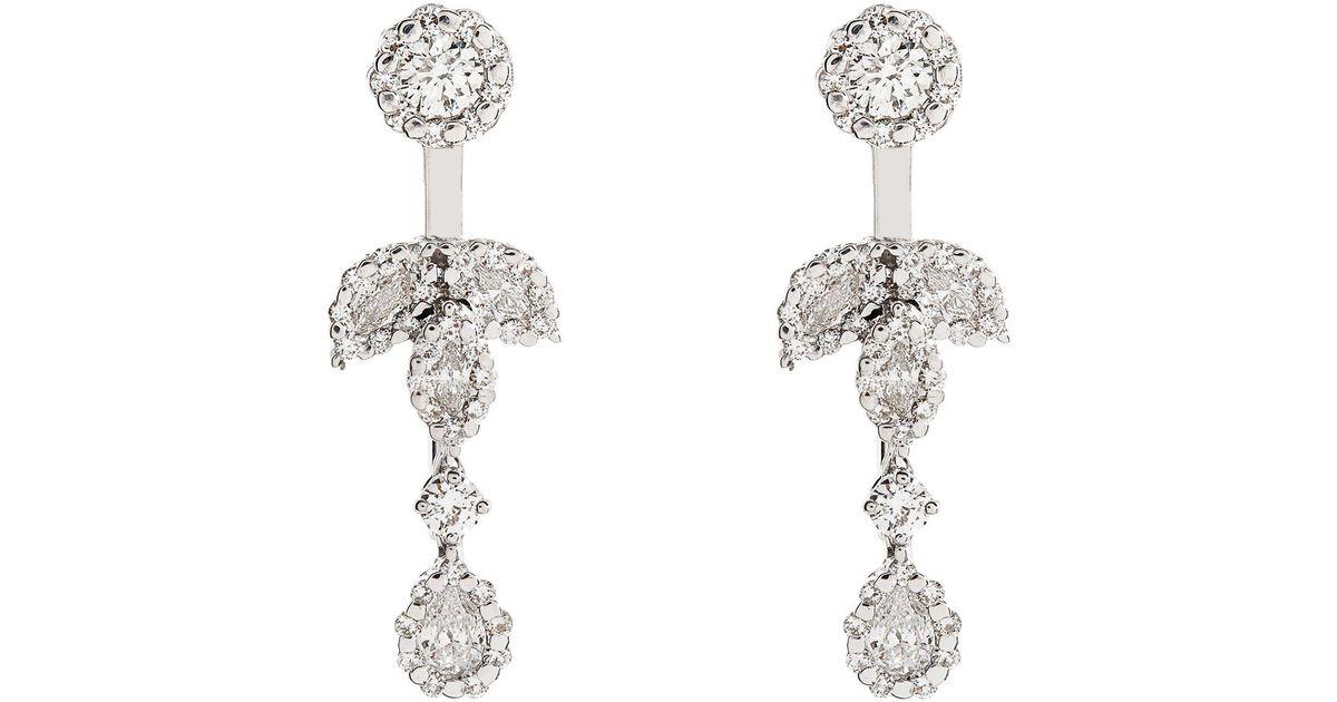 Yeprem Diamond Chandelier Drop Earrings in White   Lyst