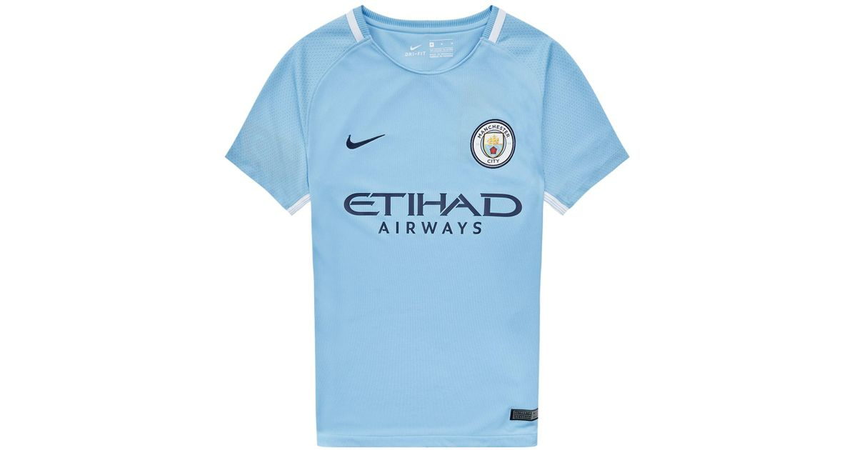 super popular 0ab1d 1322d Nike - Blue Manchester City Football Top for Men - Lyst