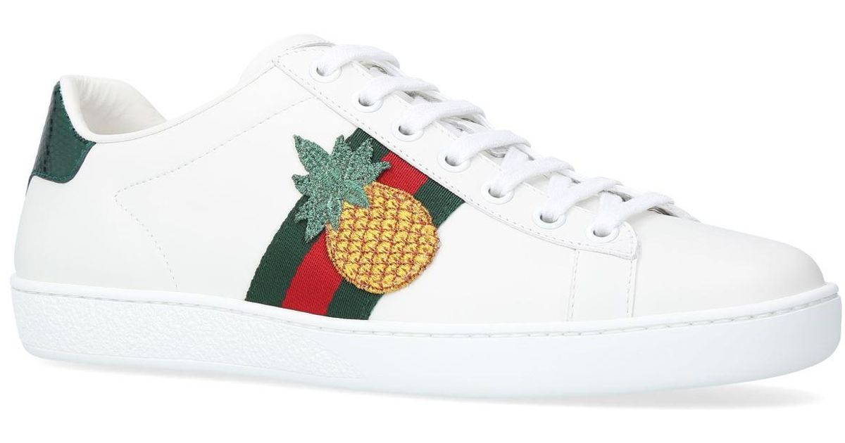 Gucci Leather New Ace Pineapple