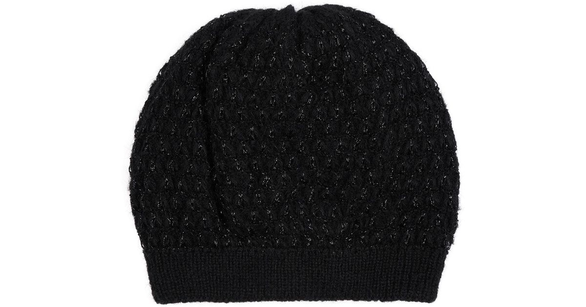 c00519a888a Lyst - Sandro Shimmer Beanie in Black