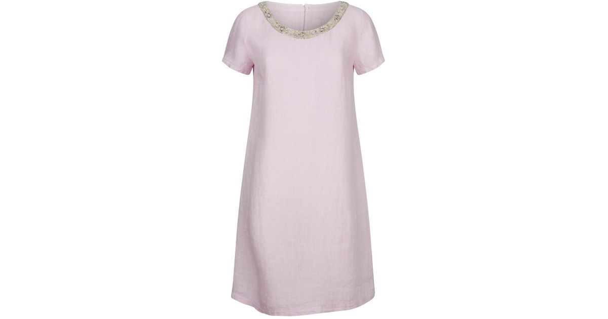 043374458d Lyst - 120% Lino Linen Shift Dress in Pink