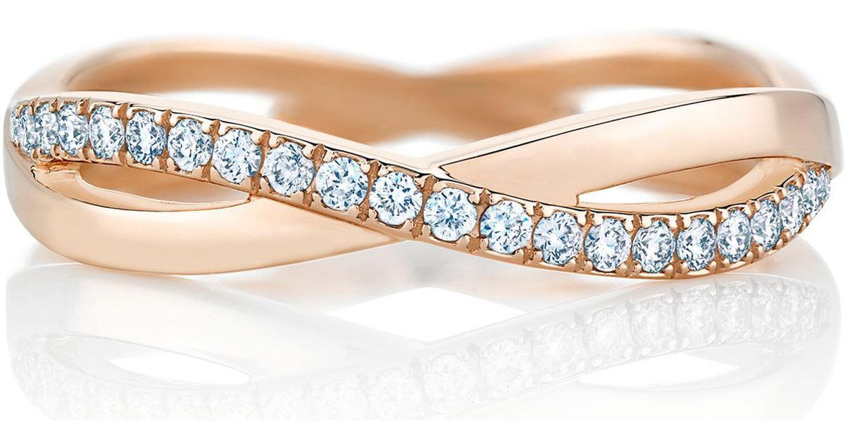 dainty rose gold diamond jewelry mavrik products infinity band