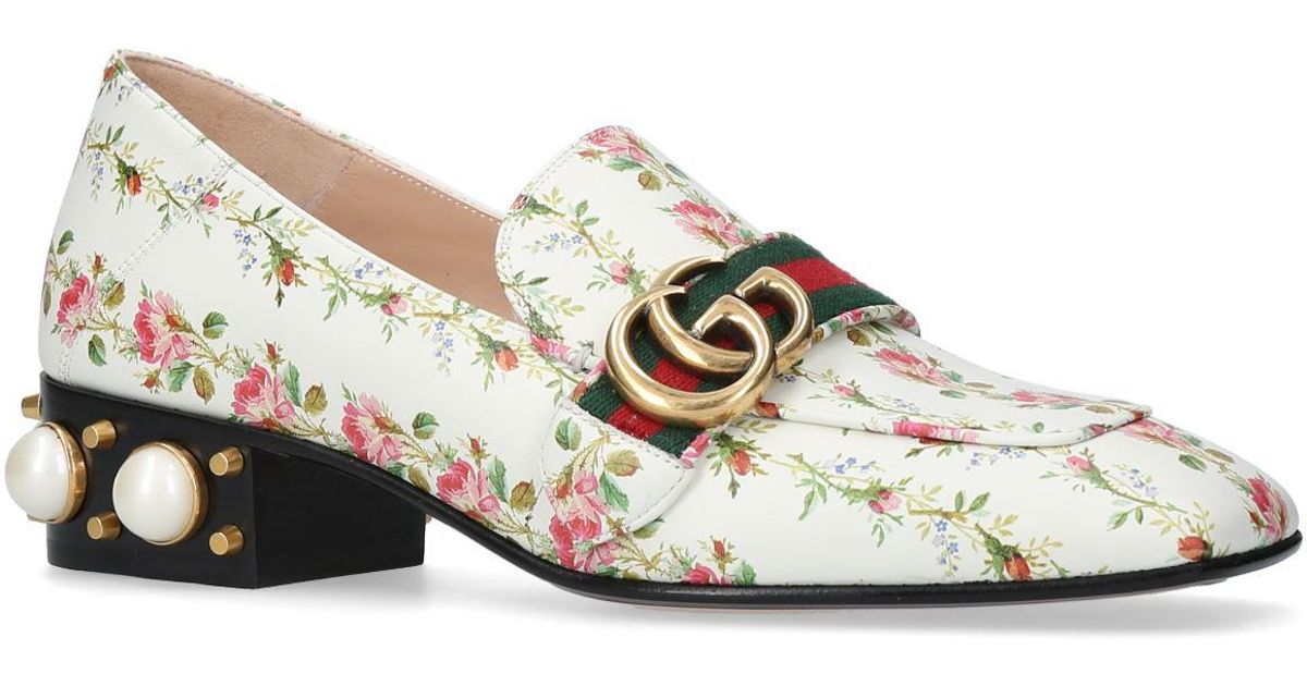 Gucci Leather Peyton Pearl Floral