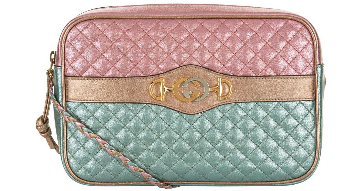 846af4c0fad Lyst - Gucci Small Laminated Leather Cross Body Bag