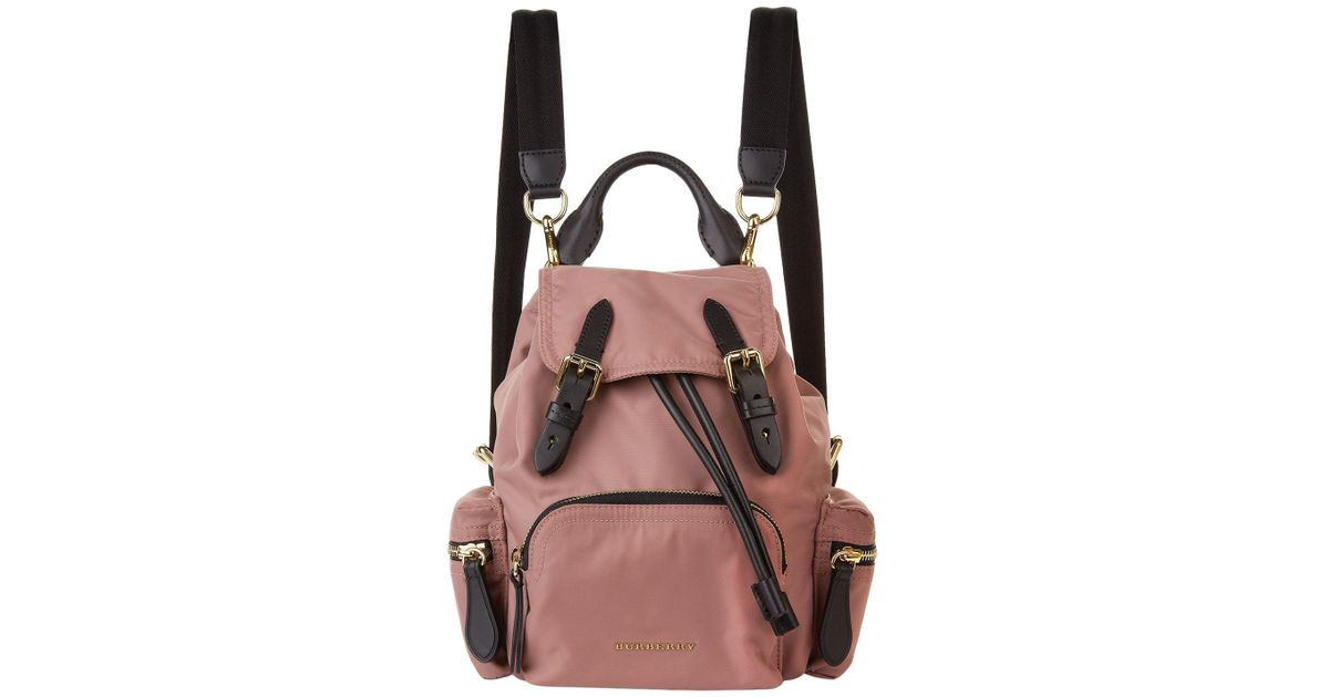 ab3a04538ab0 Lyst - Burberry Small Buckled Rucksack in Pink