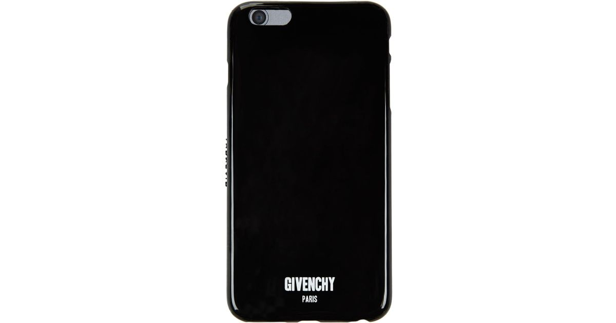 new product 4a966 20610 Givenchy Black Iphone 6 Plus Logo Phone Case