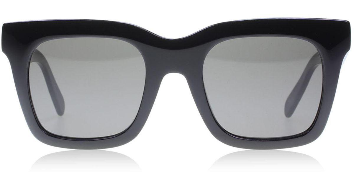 f85e9b67834e6 Lyst - Céline Luca Sunglasses in Black