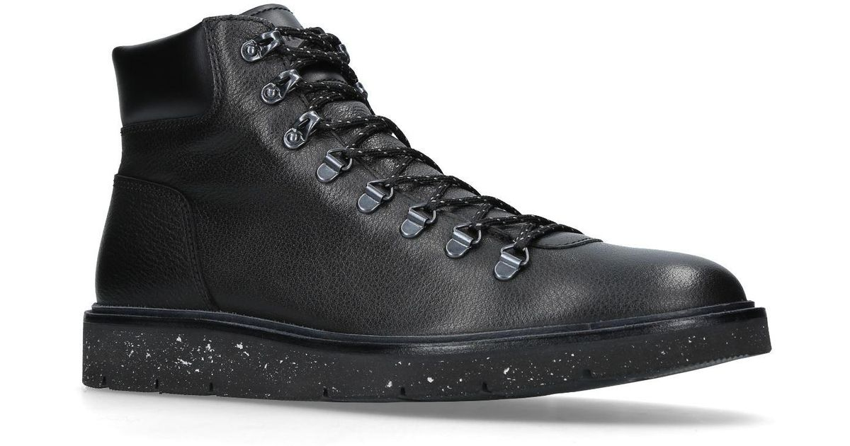 Hogan Leather H334 Hiking Boots in Black for Men - Lyst