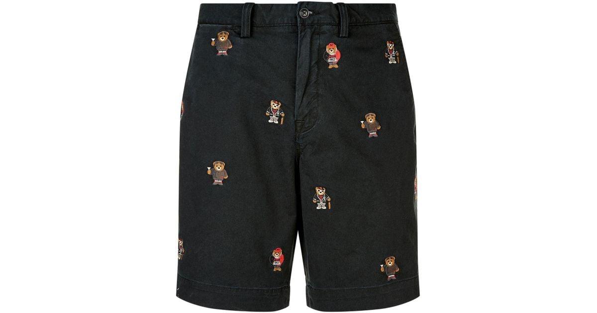 Bear Shorts Black Motif Men For Polo Ralph Lauren QtCohBsxrd