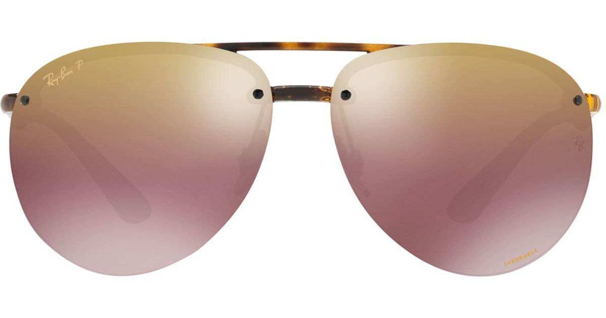 917f206bbe Ray-Ban Polarised Mirror Aviator Sunglasses in Brown - Lyst