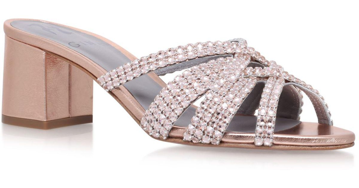 0c2ae0620f0f86 Lyst - Gina Dexie Rocher Sandals in Brown