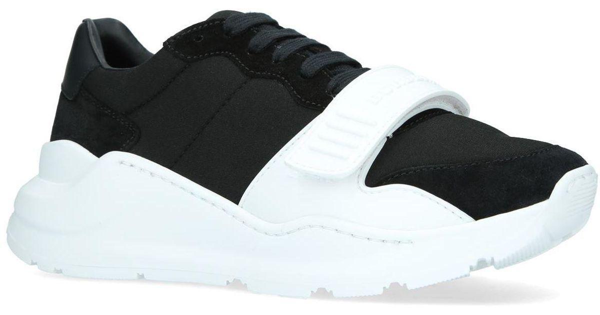 8e00a70566cc Lyst - Burberry Regis Low Top Sneakers in Black