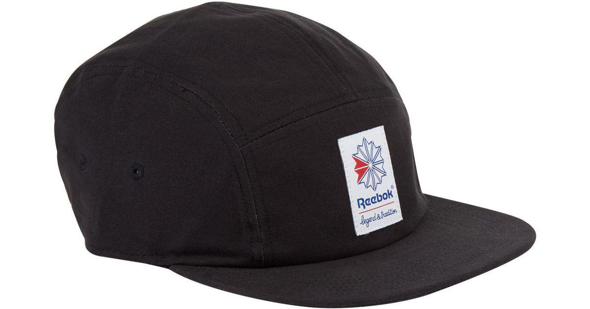 Reebok Classics Foundation 5-panel Cap in Black for Men - Lyst 29d3f0559bd