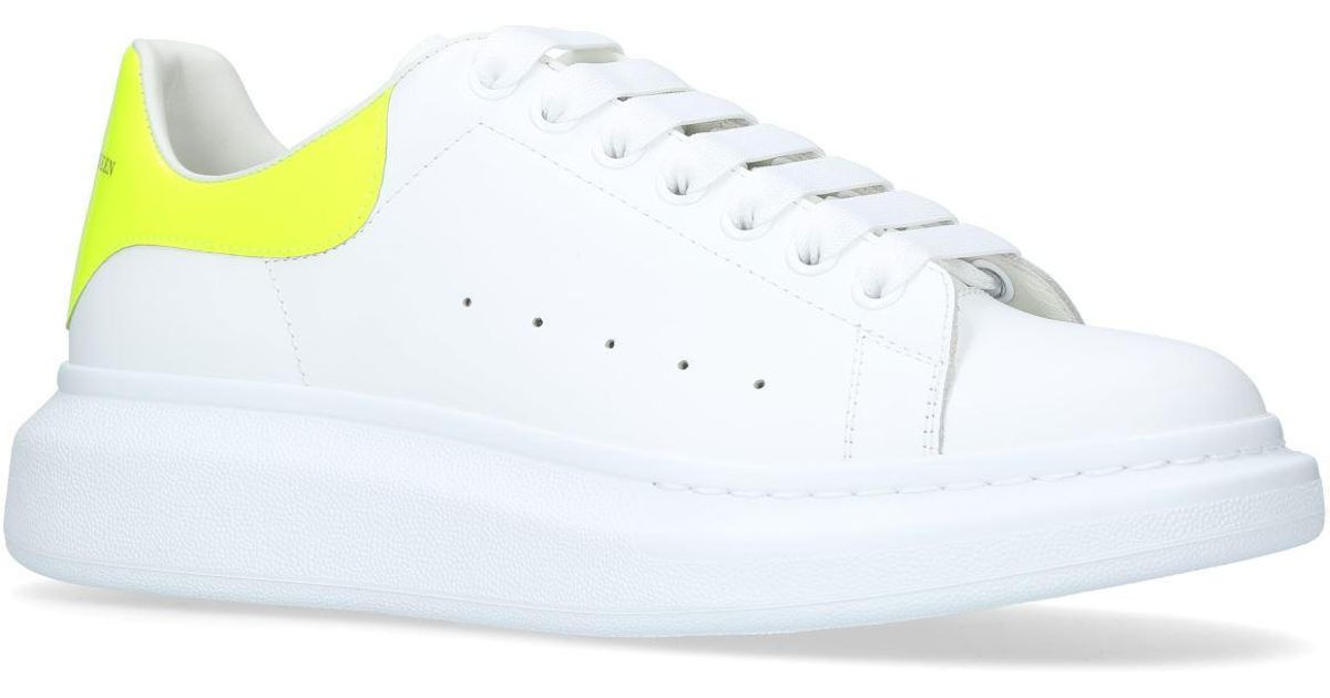 695ab255b Lyst - Alexander McQueen Leather Fluorescent Show Sneakers