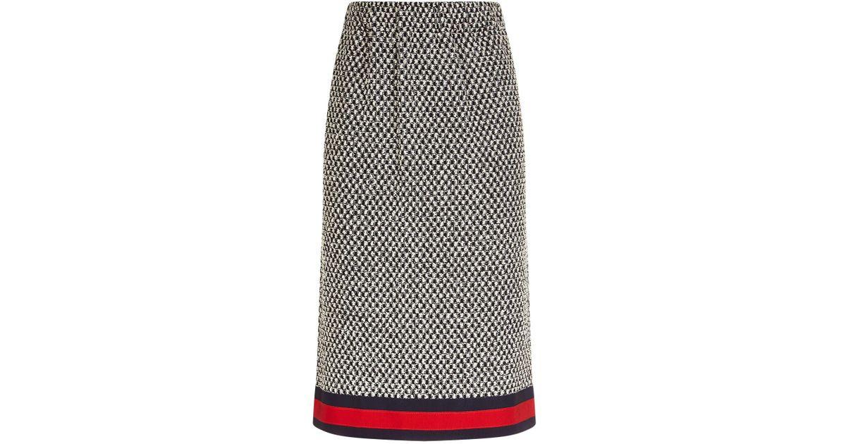 ff781d32 Gucci Multicolor Macram Tweed Skirt