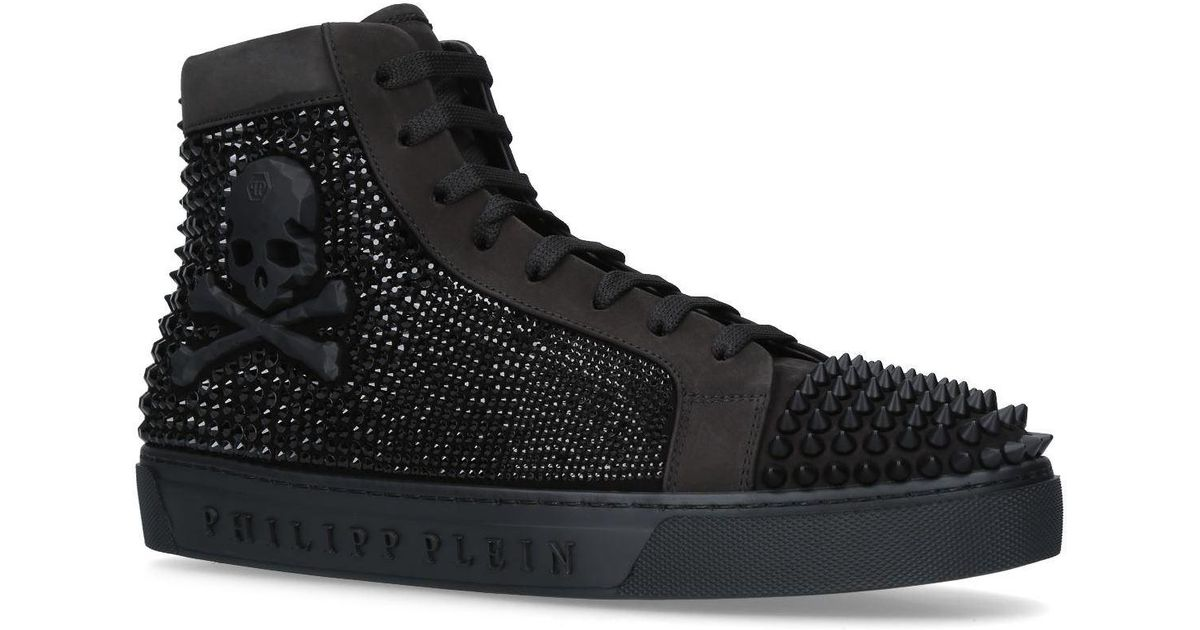 ec91fa607d1 Philipp Plein Embellished Magic In The Air Sneakers in Black for Men - Lyst