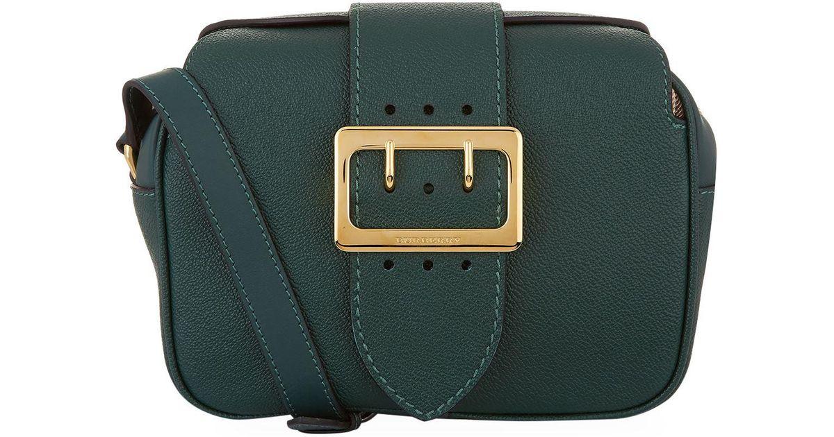 9341c3adda60 Lyst - Burberry Small Buckle Crossbody Bag in Green