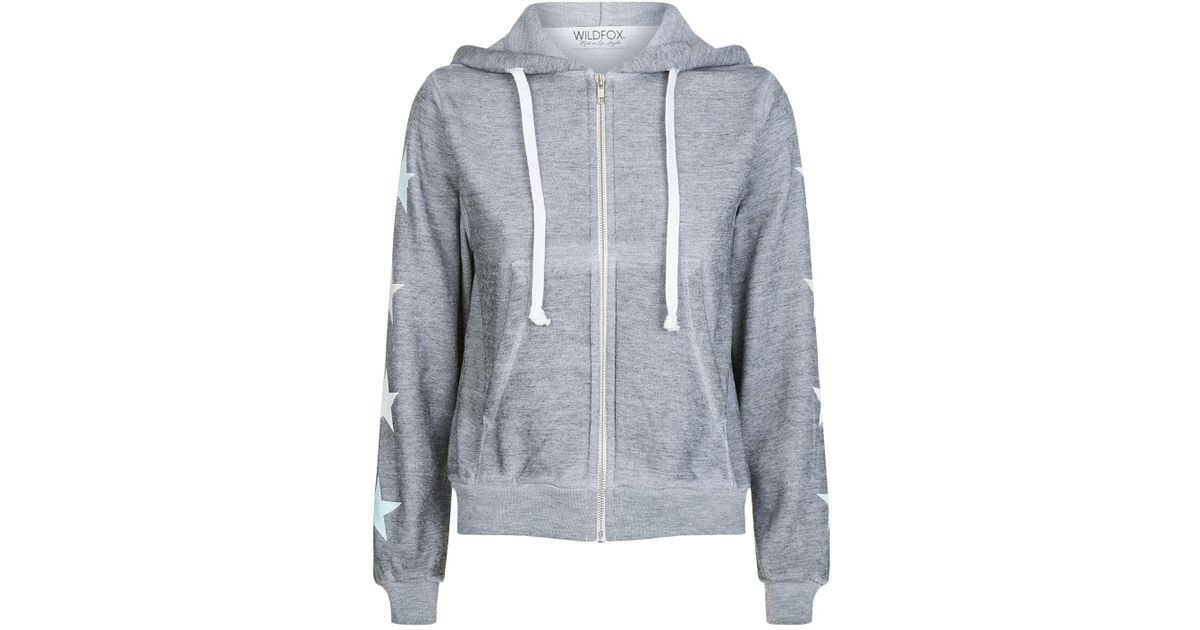 Wildfox Womens Wild Rose Regan Zip Hoodie