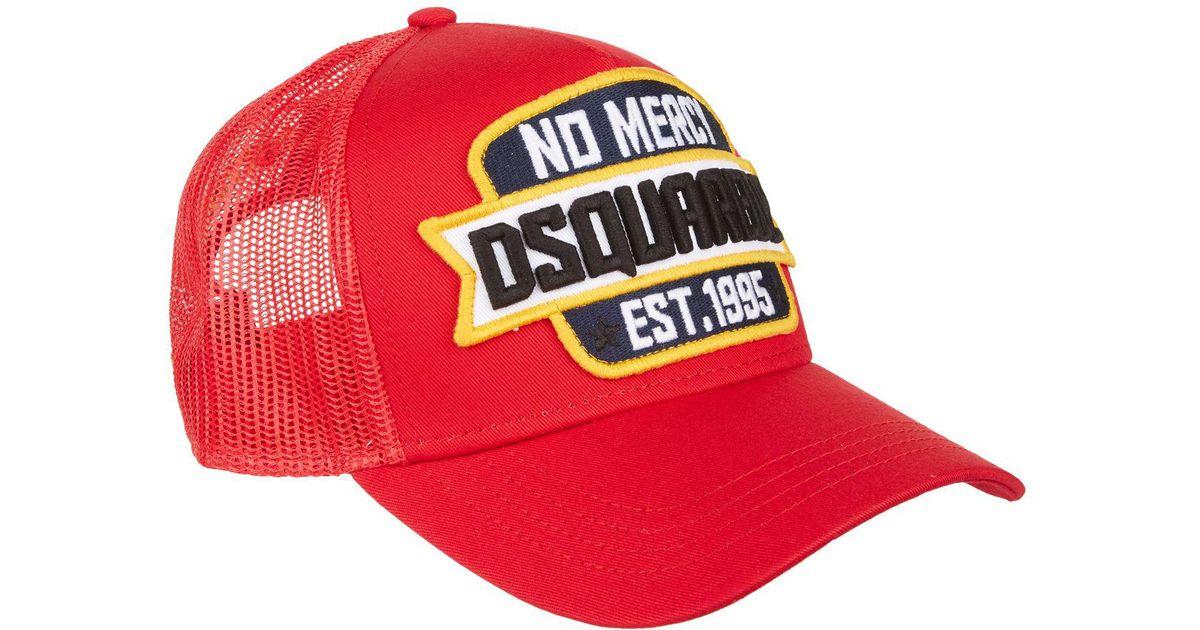 535552f9e DSquared² Red No Mercy Baseball Cap for men
