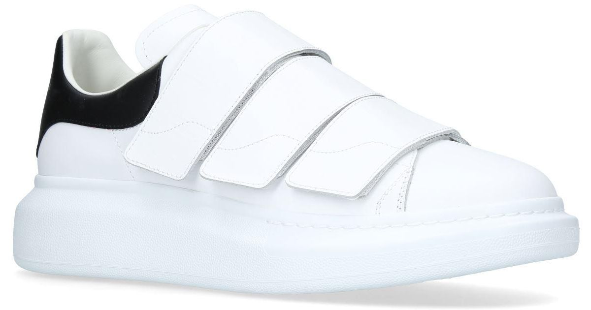 e9c7d086fe00 Lyst - Alexander Mcqueen Oversized Strap Sneakers in White
