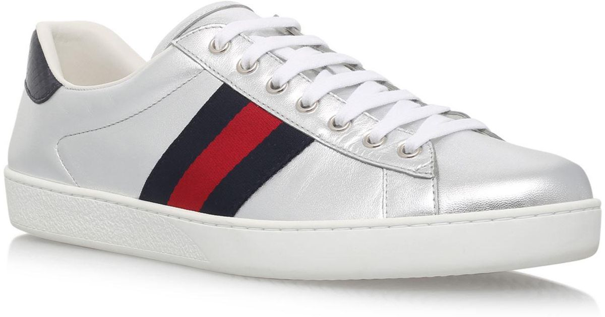 Gucci Leather New Ace Metallic Sneakers