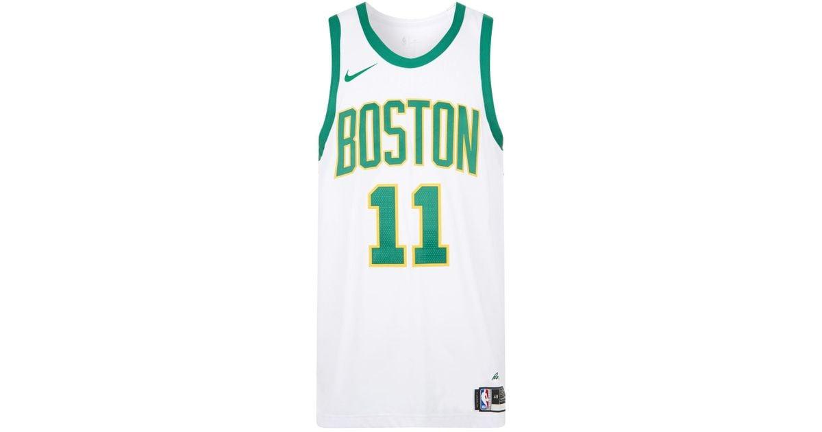 separation shoes 147e2 d46d3 Nike White Boston Celtics Jersey Tank Top for men