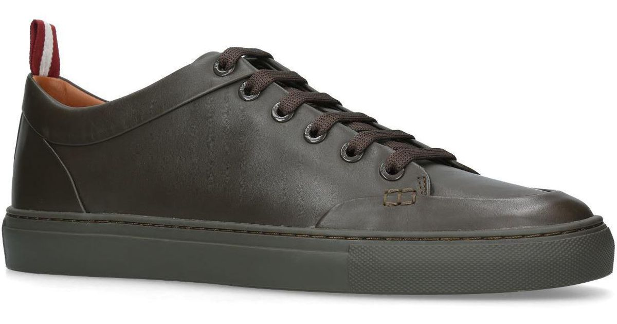 Bally Leather Helliot Sneakers in Green