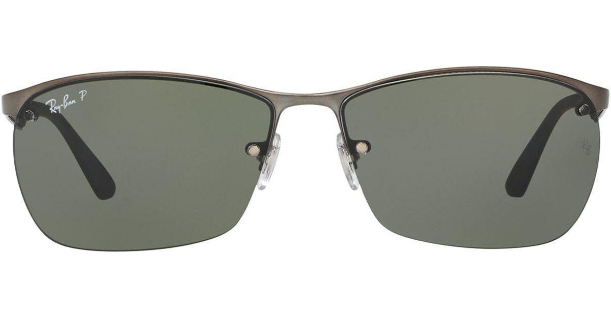 ray ban half frame aviator sunglasses
