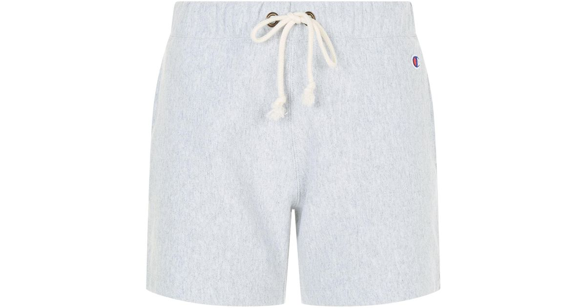 f716bbe4117e Lyst - Champion Logo Embroidered Sweat Shorts in Gray for Men