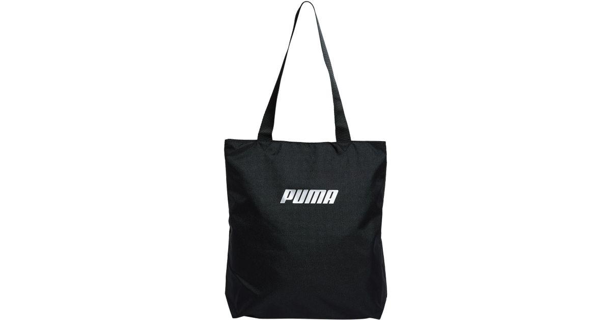 PUMA Logo Tote Bag in Black - Lyst